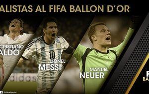 Sin sorpresas: Cristiano, Messi y Neuer, finalistas del Balón de Oro