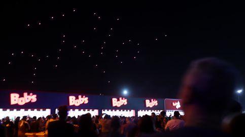 Medio millar de drones ilumina el cielo de la ciudad china de Xi'an