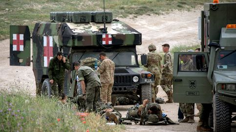Heridos 13 militares durante un ejercicio de paracaidismo en Zaragoza