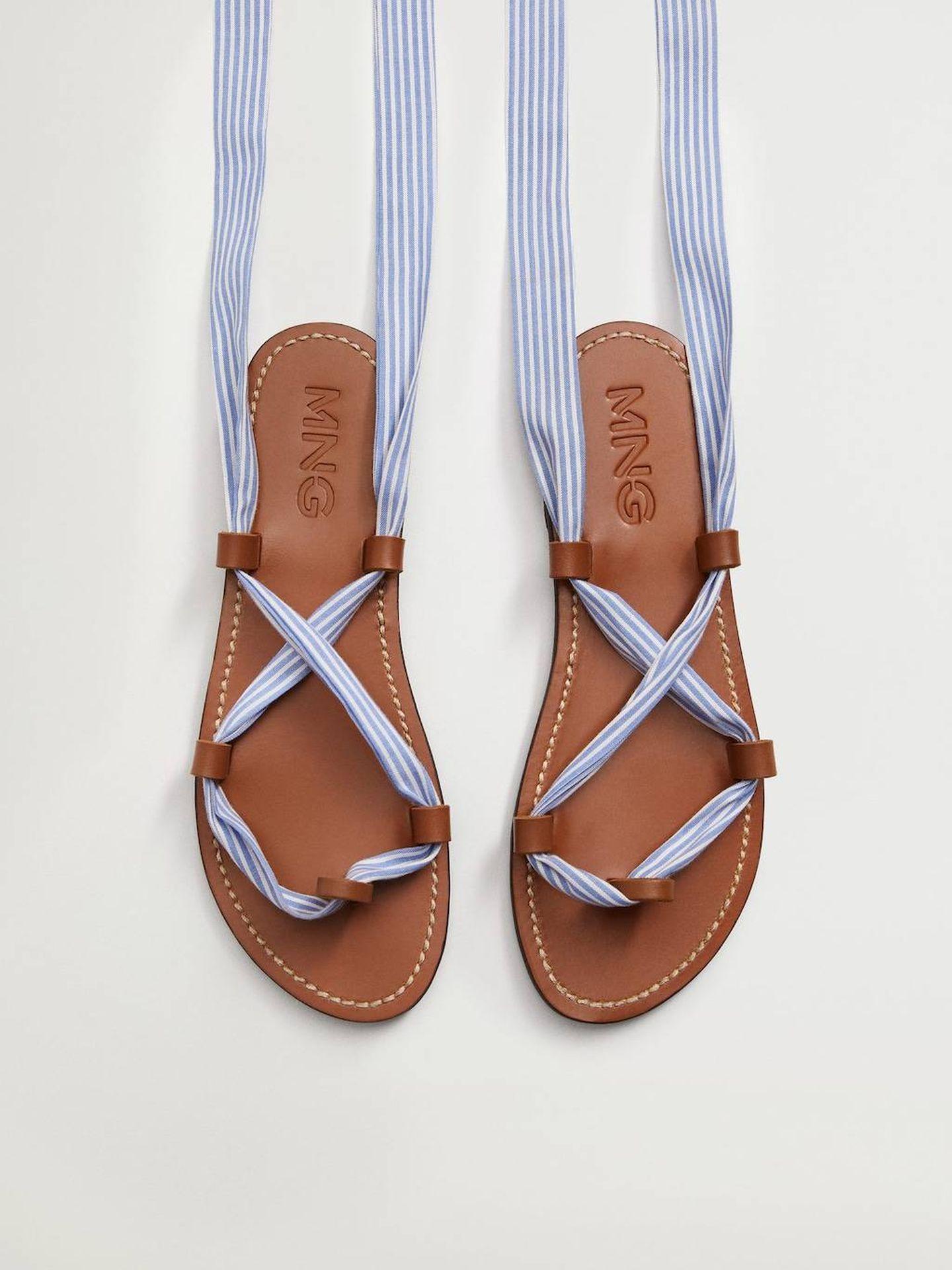 Sandalias de Mango. (Cortesía)