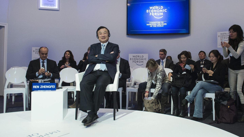 Ren Zhengfei asiste a un debate del Foro Económico Mundial en Davos. (EFE)