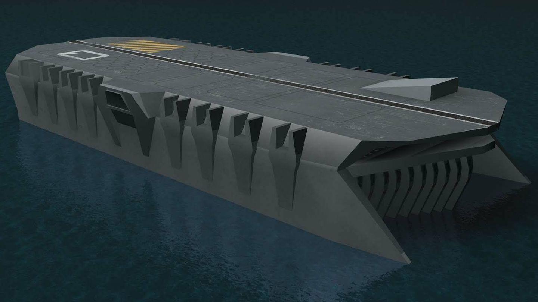 Un 'portasubmarinos', portaaviones y 'portabarcos'. (Royal Navy)