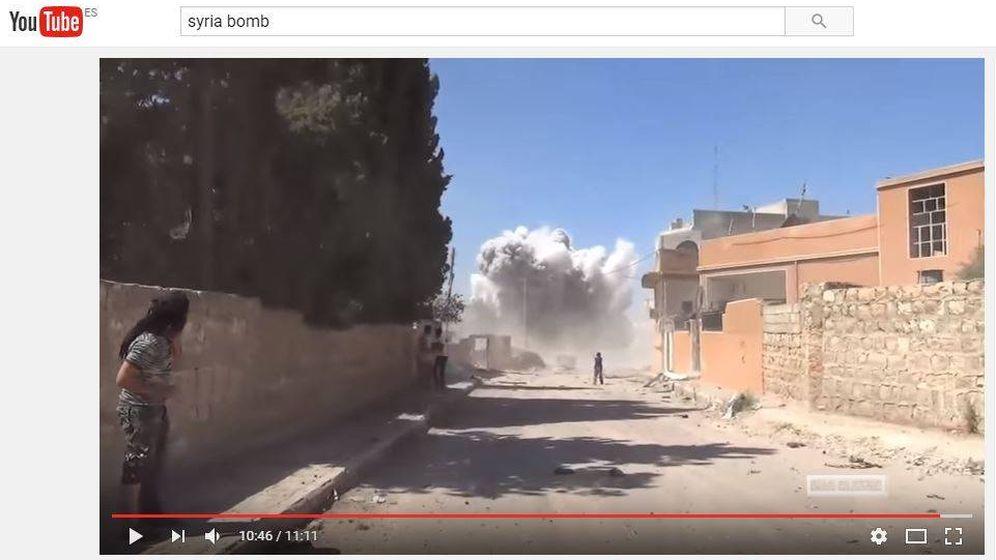 Foto: Vídeo de un bombardeo del ejército sirio subido a YouTube