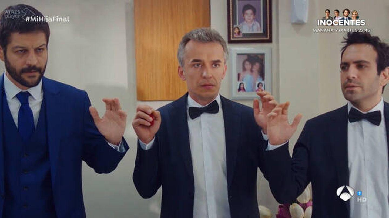 Demir, Ugur y Cemal, personajes de 'Mi hija'. (Atresmedia)