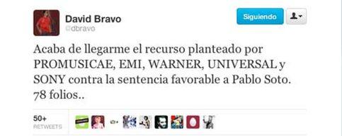 Segundo asalto: la industria discográfica recurre la sentencia que daba la razón a Pablo Soto