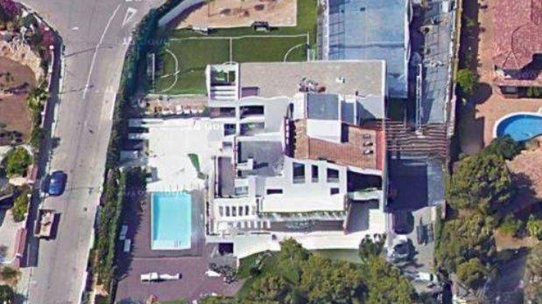 La casa de Messi desde el aire.