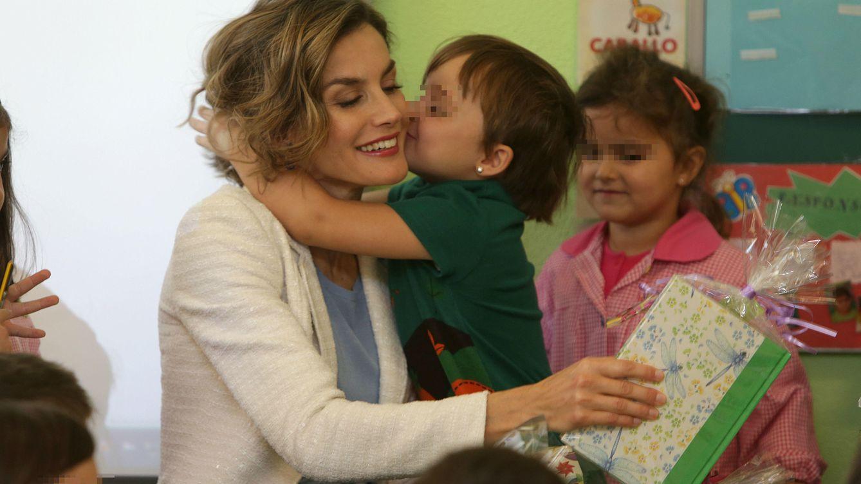 Foto: La Reina Doña Letizia, en la apertura del curso escolar en un centro de Palencia (Gtres)