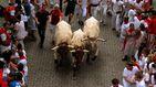 San Fermín 2019: un primer encierro abarrotado deja un herido por asta de toro