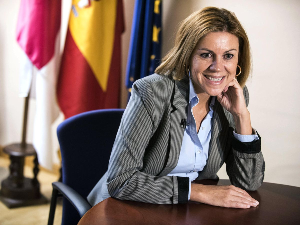 Foto: María Dolores de Cospedal, en una entrevista. (EFE)