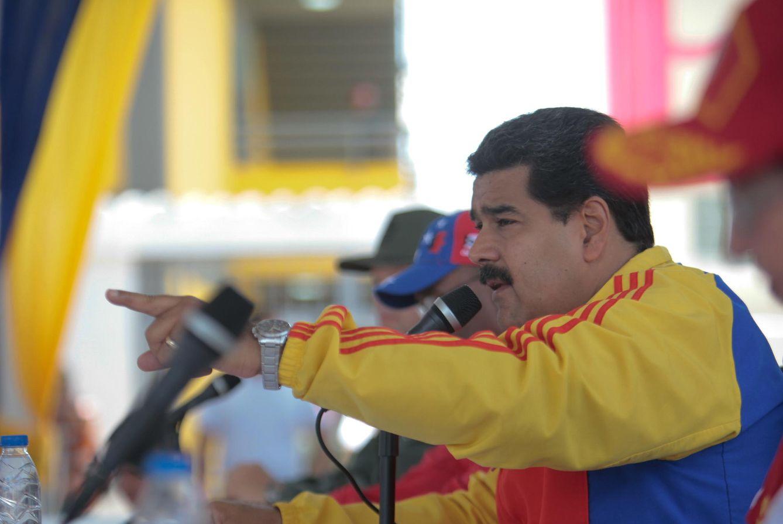 Foto: Nicolás Maduro, durante un acto político en Barcelona (Venezuela) (Efe).