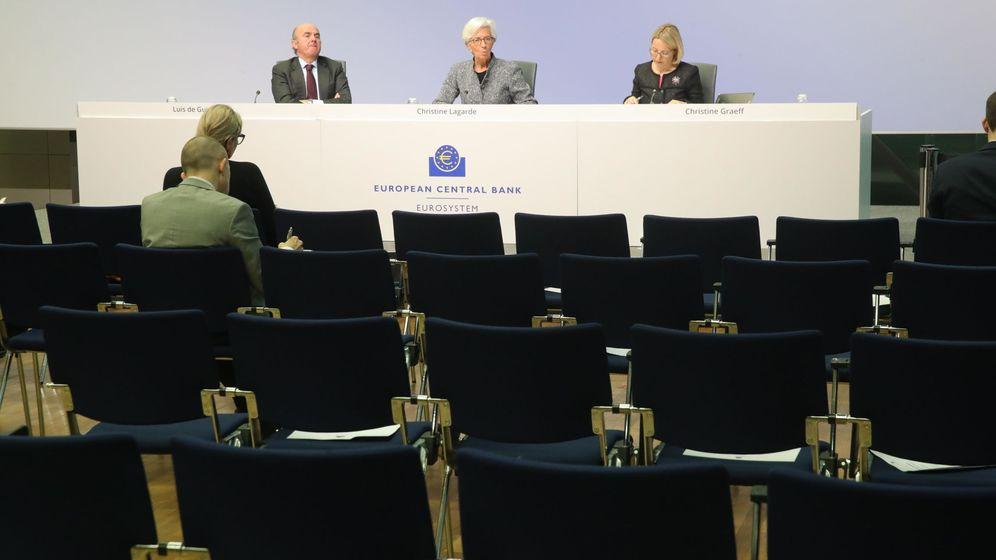 Foto: Rueda de prensa de la presidenta del BCE, Christine Lagarde. (Reuters)