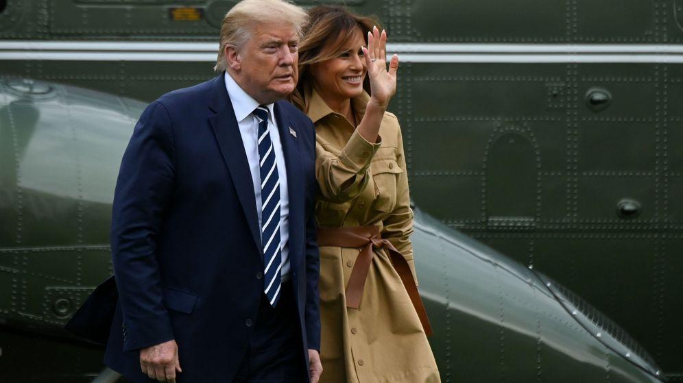Foto: Donald y su mujer Melania Trump hace unos días en Washington. (Reuters)
