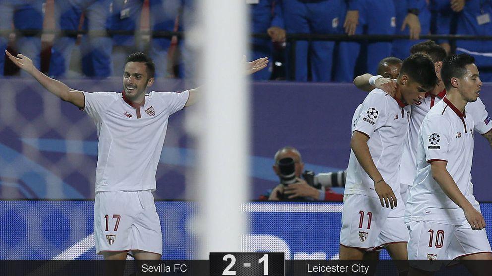 El Sevilla no sabe sentenciar y deja con vida al Leicester City