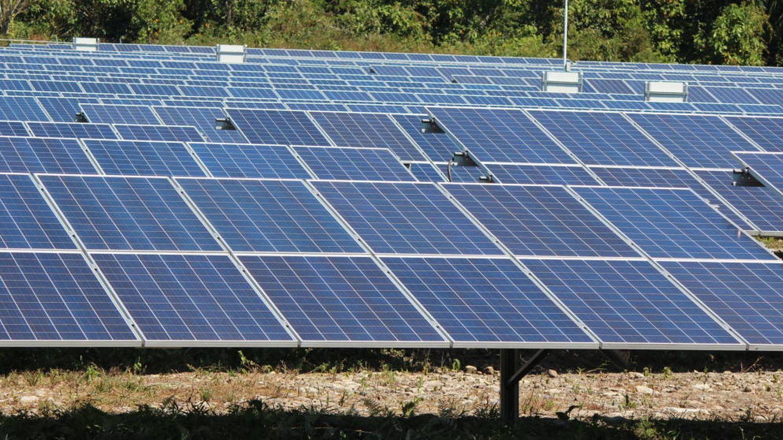 Foto: Foto de recurso de un parque solar. (Efe)