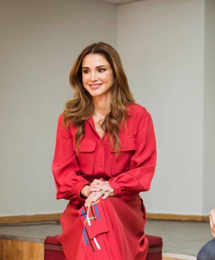 Foto: Rania de Jordania siempre nos conquista con sus looks. (Archivo)