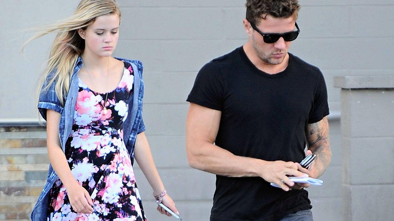 Ryan Phillippe y su hija Ava, fruto del matrimonio con Reese. (Gtres)