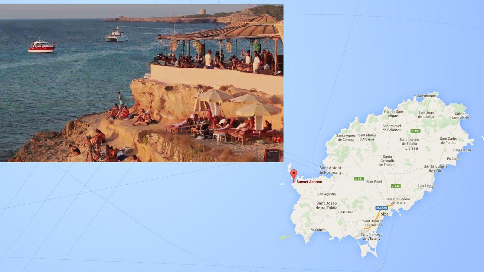 Foto: Vista aérea de la zona que han comprado los millonarios británicos en la isla de Ibiza.