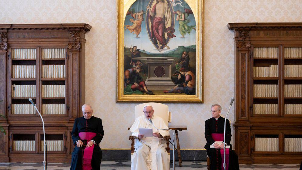 Foto: El papa Francisco, en una conferencia virtual en El Vaticano. (Reuters)