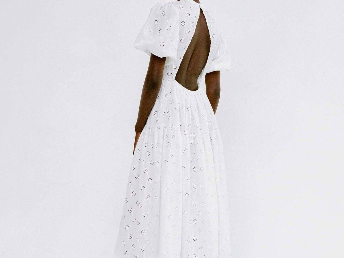Foto: Vestido blanco de Zara. (Cortesía)