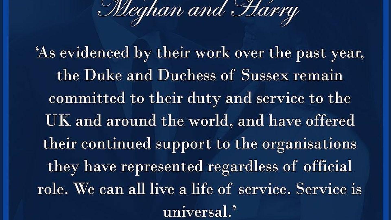 Comunicado de los Sussex.