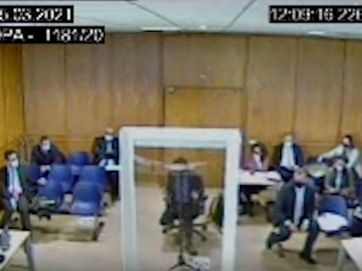 Foto: Captura del vídeo de la declaración de Monedero ante el juez. (EC)