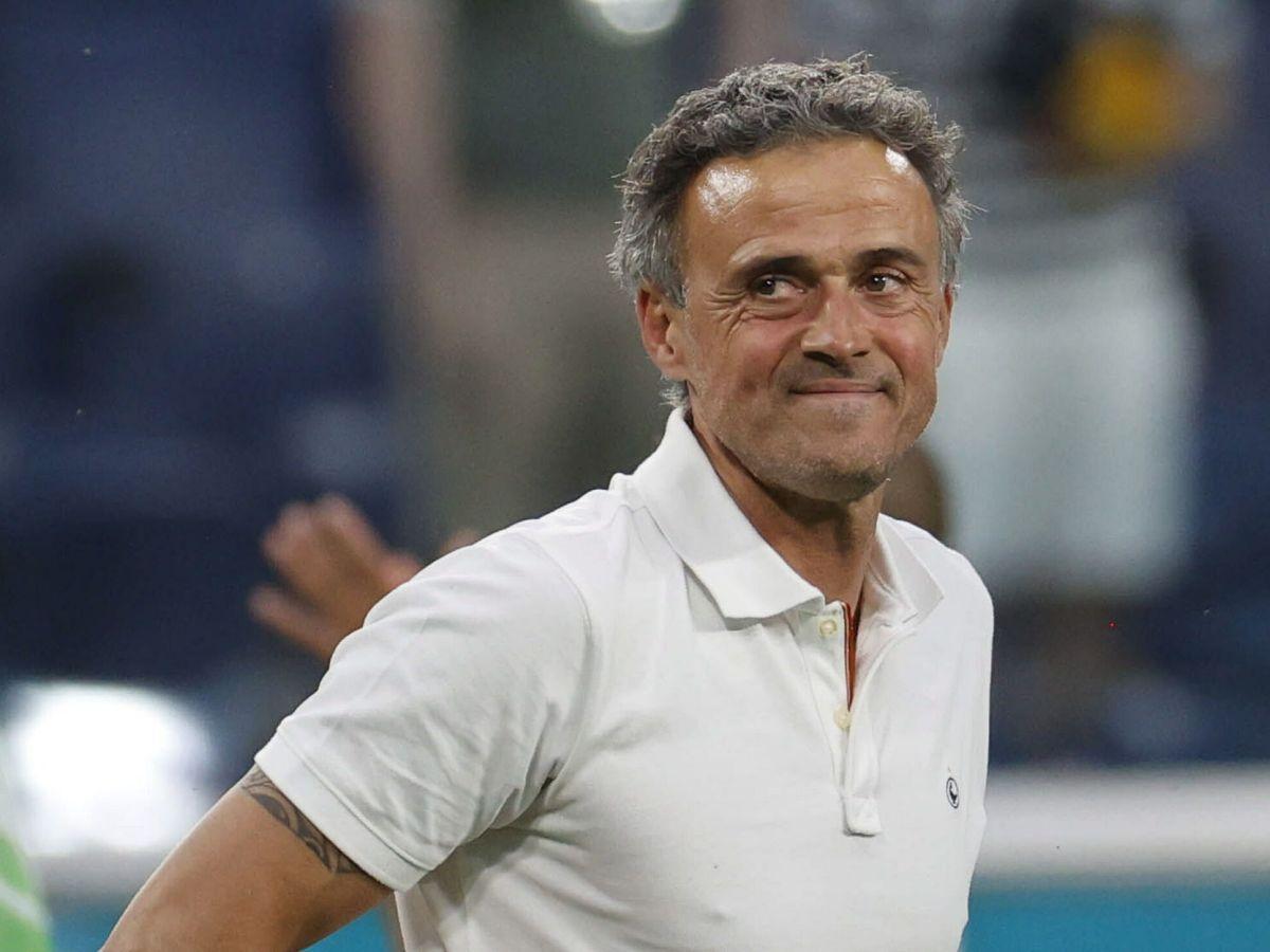 Foto: Luis Enrique durante un partido de la Selección española. (Efe)