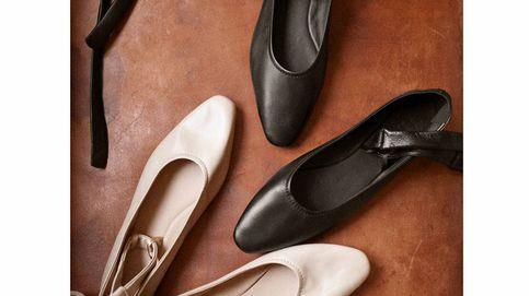 Estas bailarinas de Massimo Dutti de piel son ideales para un otoño en la oficina