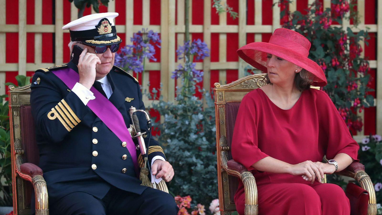 Foto: El príncipe Laurent y su esposa, Claire, en una imagen de archivo. (Reuters)