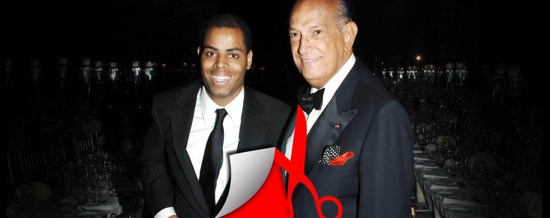 Foto: Óscar de la Renta y su hijo Moisés, en una imagen de archivo (Fotomontaje de 'Vanitatis')