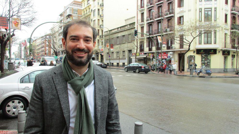 Foto: Pere Estupinyà en Madrid tras la entrevista. (M. A.)