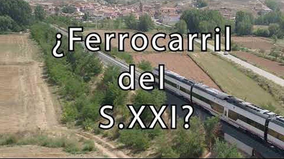 Un tractor es más rápido que el tren que une Teruel con Zaragoza