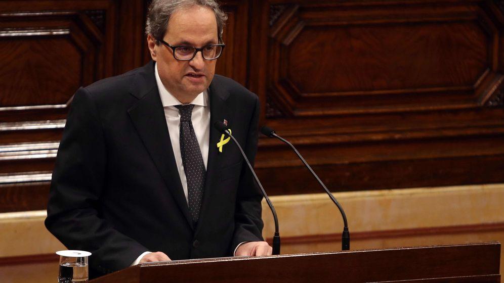 Foto: El candidato a presidente de la Generalitat por JxCat, Quim Torra