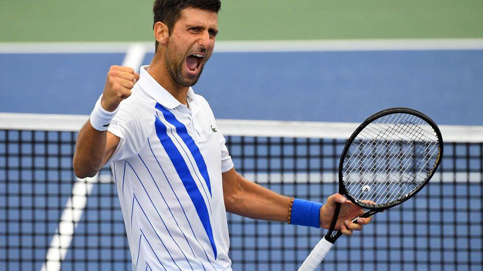 Foto: Djokovic celebra su pasada victoria en Nueva York. (Reuters)