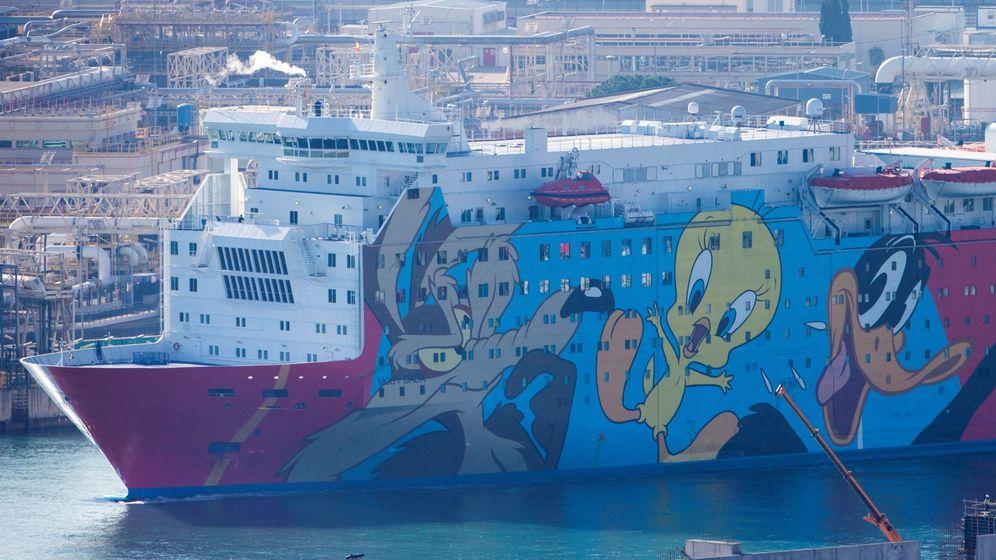 Foto: Crucero 'Moby Dada' en el que fueron alojados decenas de policías durante la operación Copérnico. (EFE)