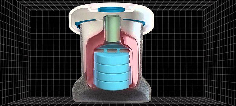 Foto: Estructura interior del dispositivo de almacenamiento de vacunas
