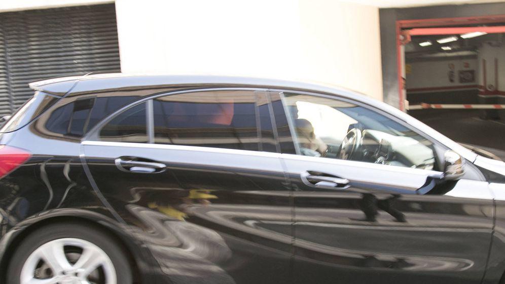 Foto: El coche que ha llevado a Cristiano Ronaldo hasta el juzgado. (Brenda Valverde)