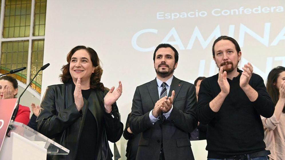 Foto: Encuentro de Podemos con los comunes de Ada Colau, este fin de semana en Madrid. (EFE)