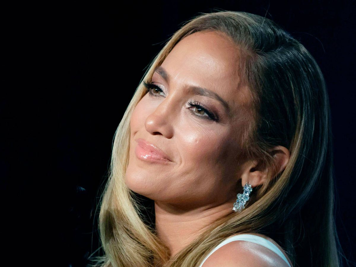 Foto: Jennifer Lopez en la rueda de prensa de la Superbowl. (Cordon Press)
