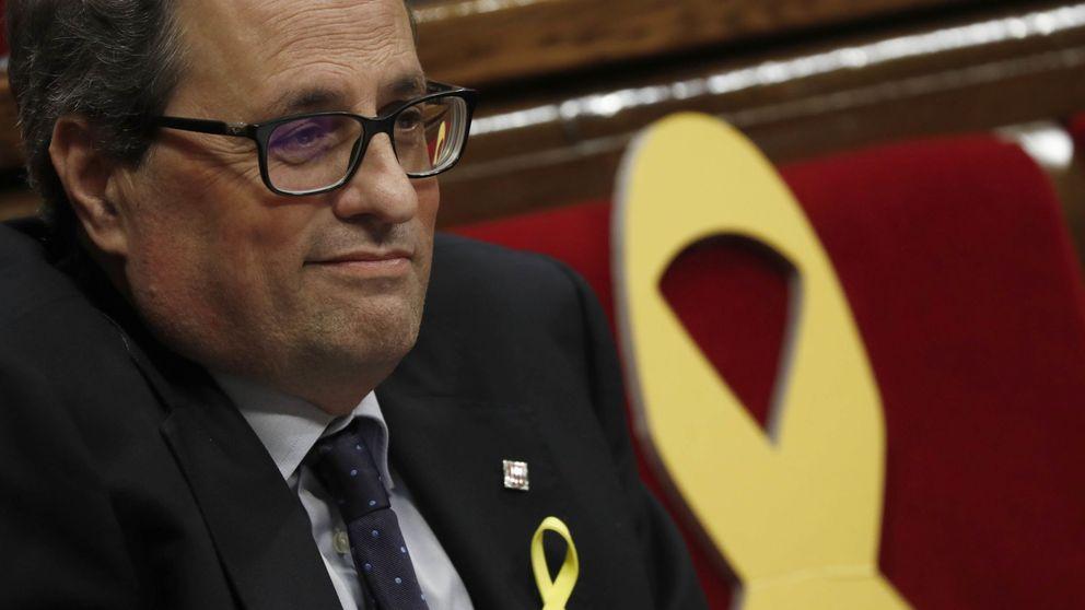 Quim Torra suplica el apoyo de la CUP en su turno de réplica en el Parlament