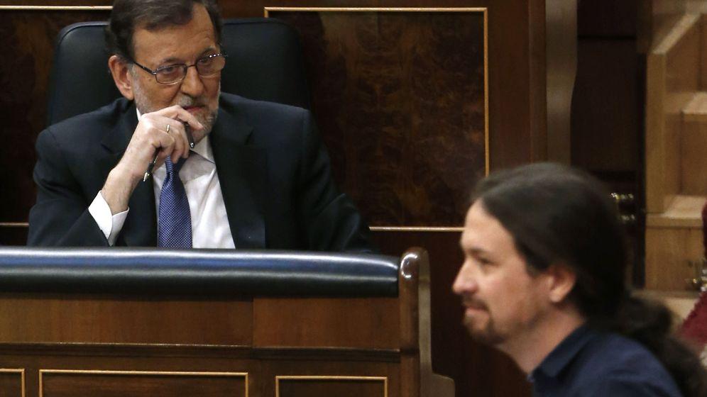 Foto: Mariano Rajoy y Pablo Iglesias, en el Congreso. (EFE)