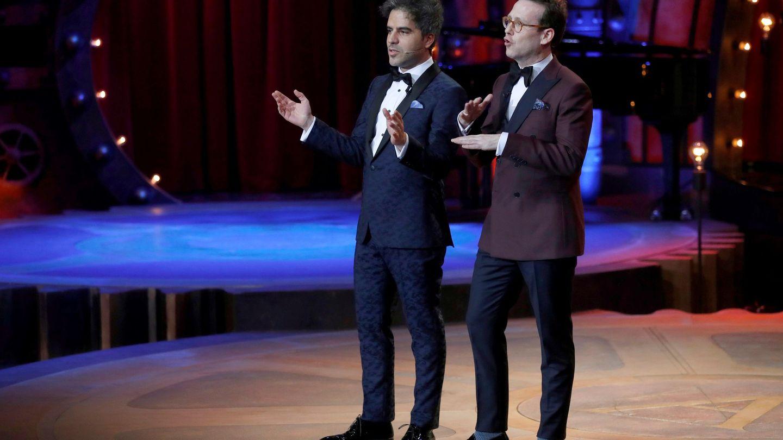 Los humoristas y presentadores de la gala Joaquín Reyes y Ernesto Sevilla