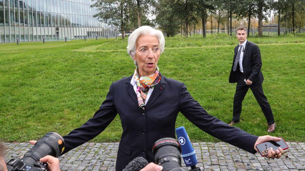 Foto: La presidenta del BCE en su primer día de trabajo. (EFE)