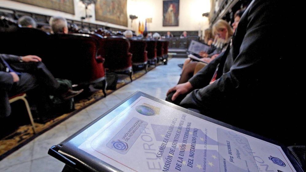 Foto: Acto de constitución de la Academia Notarial Europea. (EFE)
