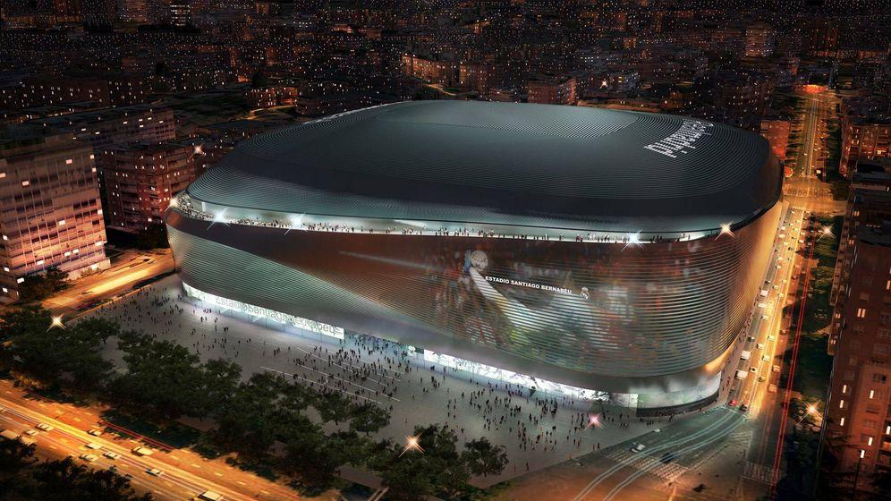 Foto: Modelo del próximo estadio Santiago Bernabéu. (L35)