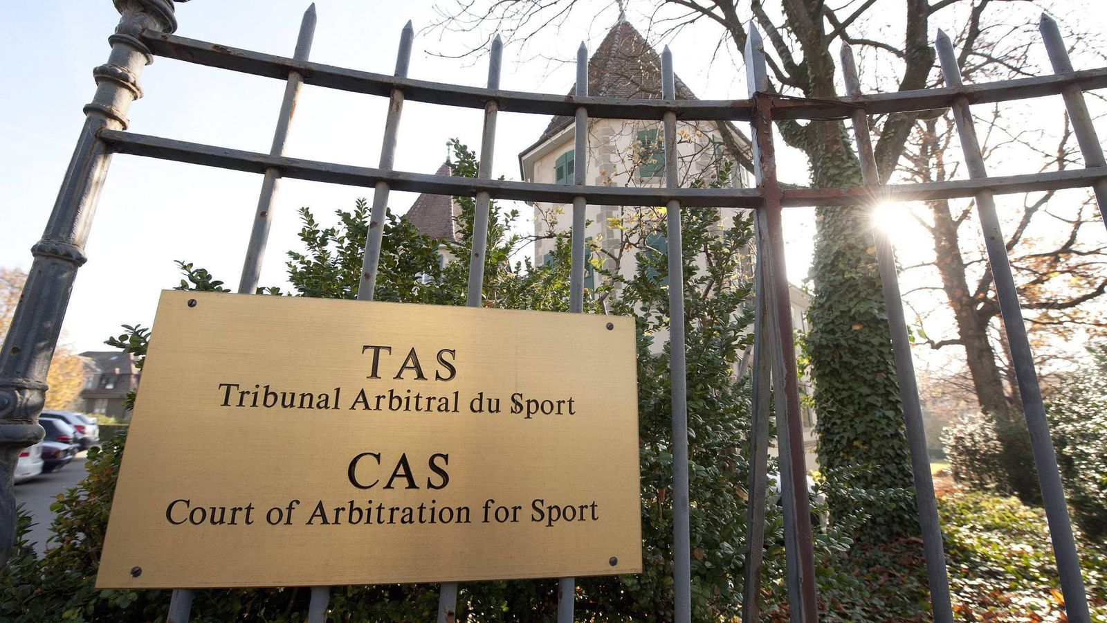 Foto: Imagen de la entrada al edificio del Tribunal de Arbitraje Deportivo (EFE)
