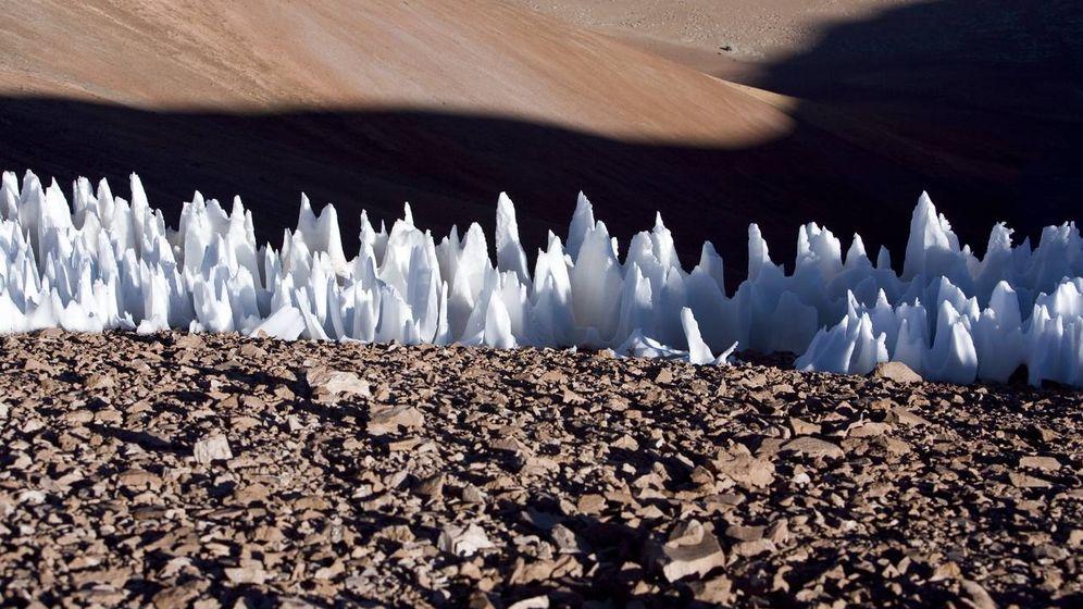 Foto: Los penitentes, las increíbles formaciones de hielo de Chile. (CC/ESO)