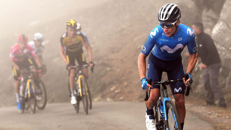 'Superman' López protagonizó la polémica de La Vuelta. (Efe)