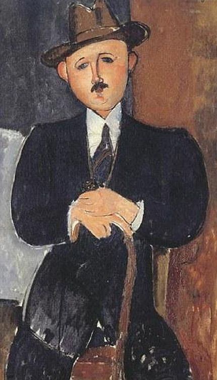 Foto: 'Hombre sentado con bastón', de Modigliani