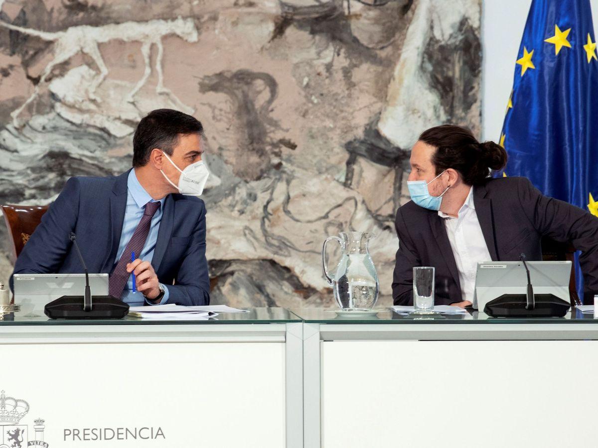 Foto: Pedro Sánchez y Pablo Iglesias, en una foto de archivo. (EFE)