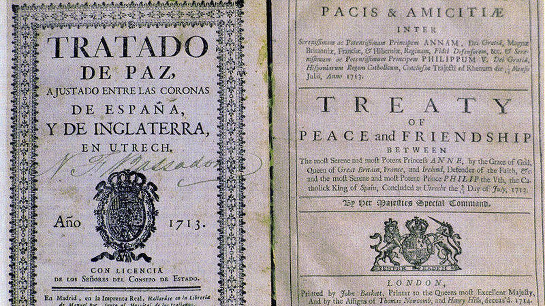 El tratado que puso fin a la Guerra de Sucesión. (Wikimedia Commons)